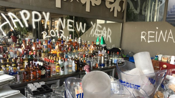 The Reina nightclub in Istanbul was set up for joyous New Year's celebrations.