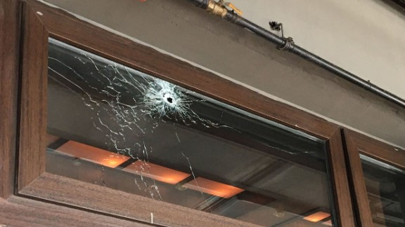 CNN correspondent Sara Sidner said as soon as she walked into the nightclub her eyes settled on this bullet hole.