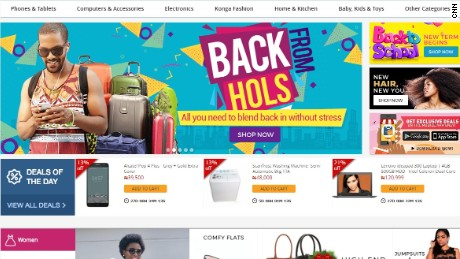 The Konga e-commerce homepage
