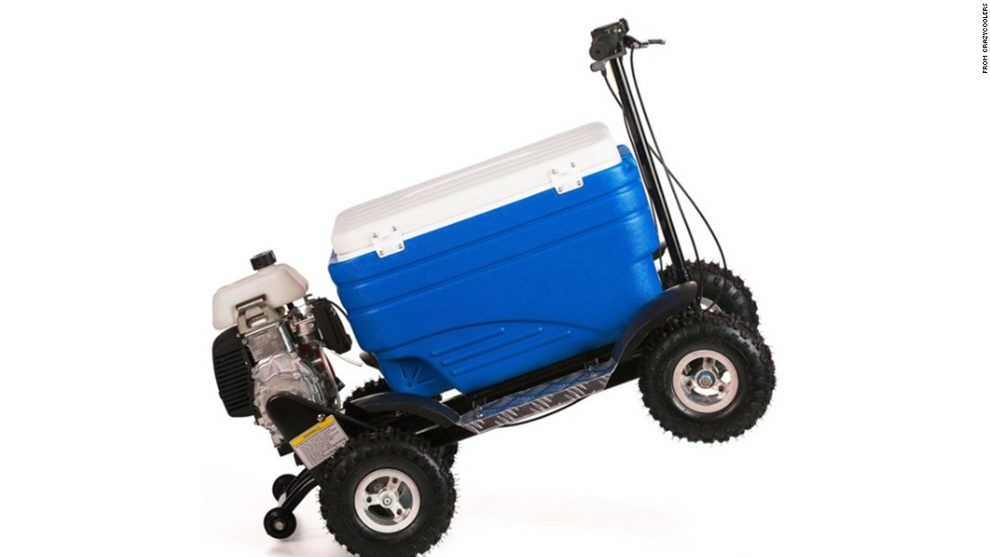 "A combination cooler and all-terrain vehicle, <a href=""http://crazycoolers.com/"" target=""_blank"">Crazy Coolers</a> are a great way to travel from tailgate to tailgate with drinks in tow."