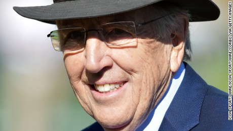 01 Jan. 2016: ESPN college game day analyst Brent Musburger on the field before the start of the 2016 Rose Bowl game played between the Iowa Buckeyes and the Stanford Cardinal at the Rose Bowl in Pasadena, CA. (Photo By John Cordes/Icon Sportswire) (Photo by John Cordes/Icon Sportswire/Corbis via Getty Images)