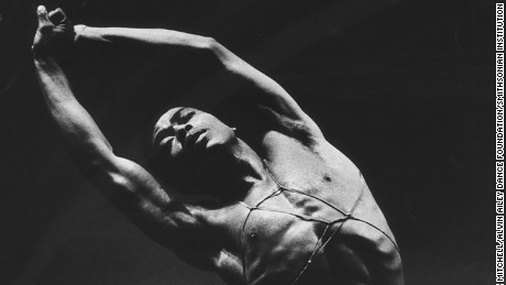 A. Ailey in Alvin Ailey's Hermit Songs.   Photo by Jack Mitchell. (©) Alvin Ailey Dance Foundation, Inc. and Smithsonian Institution(3)