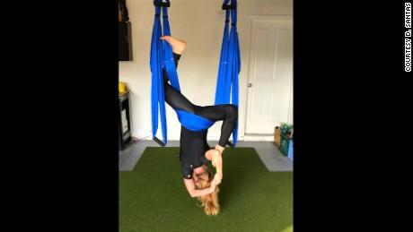 take a swing at aerial yoga at home  cnn