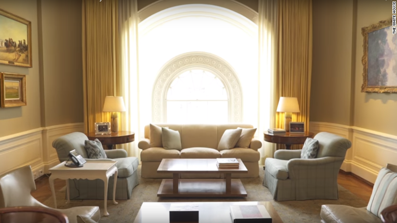 A living space in the white house private residence