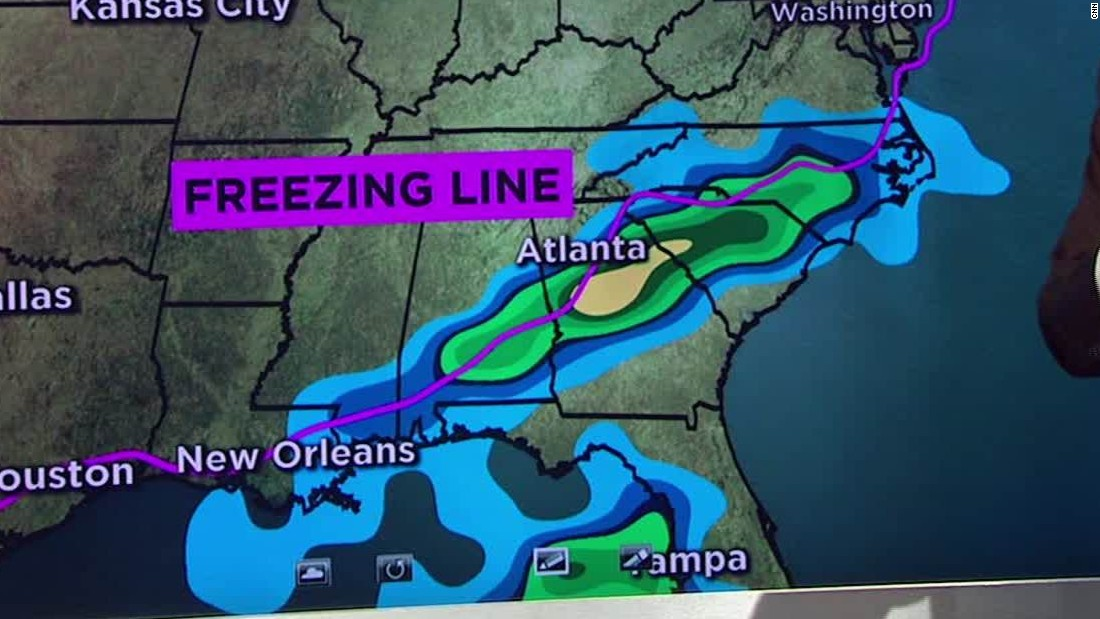 Winter storm to bring snow to South CNN