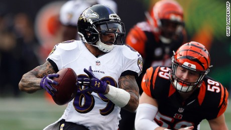 Baltimore Ravens wide receiver Steve Smith played his final NFL game Sunday. The Ravens lost to the Cincinnati Bengals, 27-10.