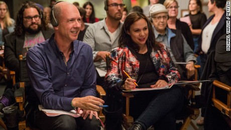 'One Day at a Time' executive producers Mike Royce and Gloria Calderon-Kellett.