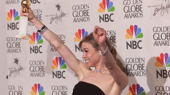 "Renee Zellweger took a bathroom break right before she won for Best Actress in a Musical or Comedy for ""Nurse Betty."" Hugh Grant announced she was the winner and when they couldn't find her, he began to accept the award on her behalf. That was until Zellweger raced to the stage and had the audience in stitches."