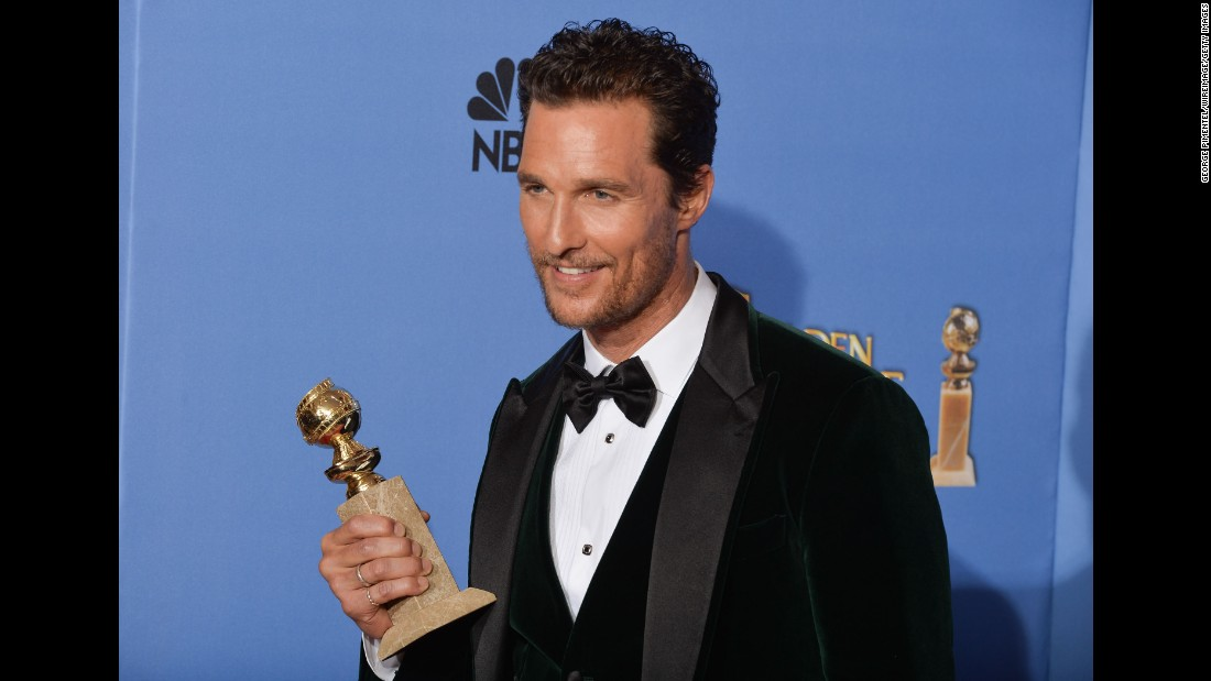 "Matthew McConaughey won his first Golden Globe award in 2014 for his role in ""Dallas Buyers Club."" The actor gave a poignant tribute to his mother in his acceptance speech, calling her his ""inspiration."""