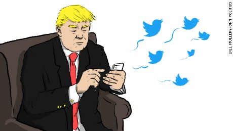 trump tweeting illustration