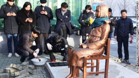 The erection of a statue in Busan has caused a diplomatic incident.