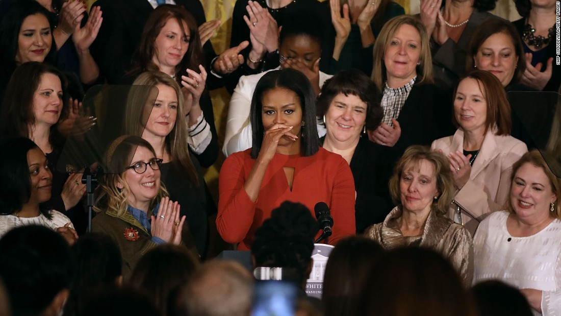 "First lady Michelle Obama delivers <a href=""http://www.cnn.com/videos/politics/2017/01/06/michelle-obama-final-speech-orig-mg.cnn/video/playlists/top-news-videos/"" target=""_blank"">her final White House remarks</a> during a ceremony honoring the 2017 School Counselor of the Year on Friday, January 6, in Washington. She said, ""Being your first lady has been the greatest honor of my life and I hope I've made you proud."""