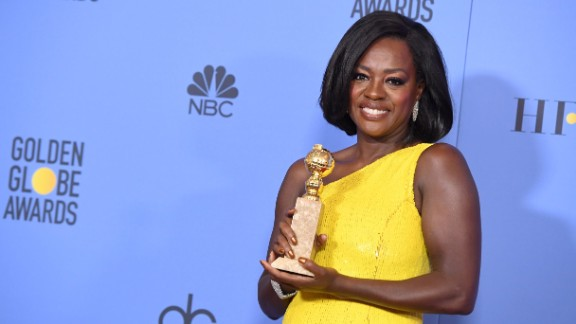 Actress Viola Davis, winner of Best Supporting Actress in a Motion Picture for 'Fences.'