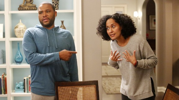 """In """"black-ish,"""" Dre Johnson Sr. (Anthony Anderson) and his wife try to ingrain a sense of cultural identity in their four kids, along with the help of his own dad, played by Laurence Fishburne. Since it premiered in 2014, it has dealt with intense topics, like when the Johnson family gathered for a night of tough TV and tougher discussions, waiting to see whether a police officer would face charges for the assault of a black man."""