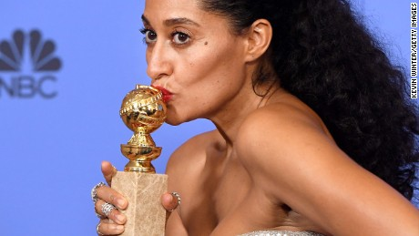 "Tracee Ellis Ross won best actress in a television series, musical or comedy for her role in ""black-ish."""