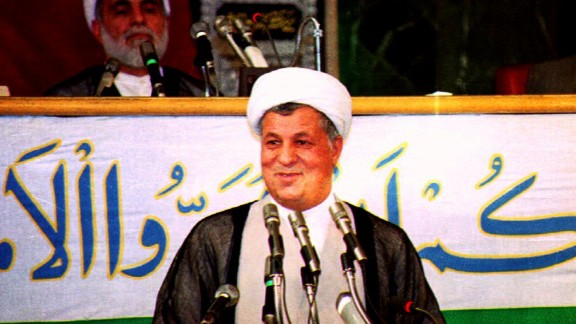 President Akbar Hashemi Rafsanjani addresses  Parliament after being sworn in for a second term in office on August 4, 1993.