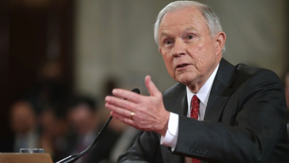 Sen. Jeff Sessions testifies before the Senate Judiciary Committee during his confirmation hearing to be the U.S. Attorney General January 10, 2017 in Washington, DC.