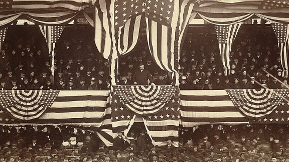Grover Cleveland was the only president to serve two non-consecutive terms. He was inaugurated in 1885 (seen here) and 1893.