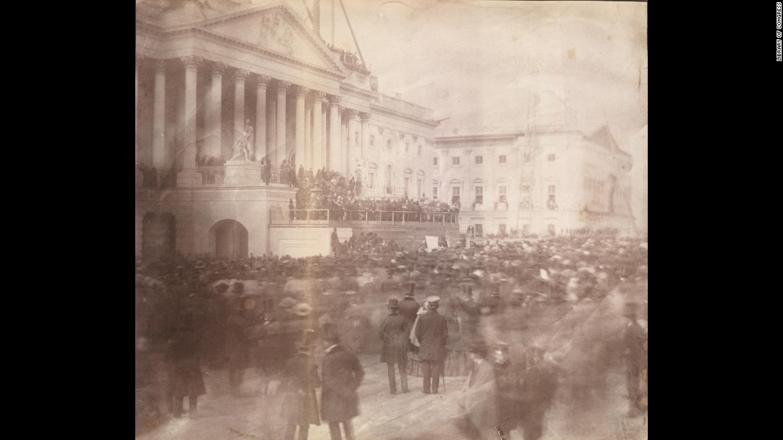 The 1857 inauguration of James Buchanan was the first inauguration ceremony known to be photographed.
