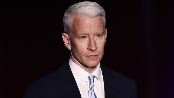 NEW YORK, NEW YORK - APRIL 19:  Journalist Anderson Cooper appears on stage during the Turner Upfront 2016 show at The Theater at Madison Square Garden on May 18, 2016 in New York City.  (Photo by Dimitrios Kambouris/Getty Images for Turner)
