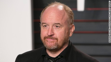 US comedian Louis C.K. poses as he arrives to the 2016 Vanity Fair Oscar Party in Beverly Hills, California on February 28, 2016. / AFP / ADRIAN SANCHEZ-GONZALEZ        (Photo credit should read ADRIAN SANCHEZ-GONZALEZ/AFP/Getty Images)