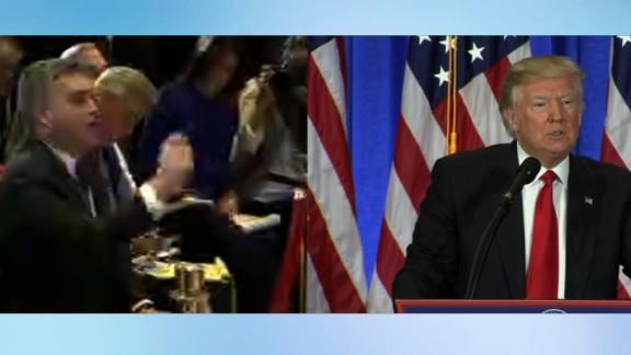 Trump Acosta split