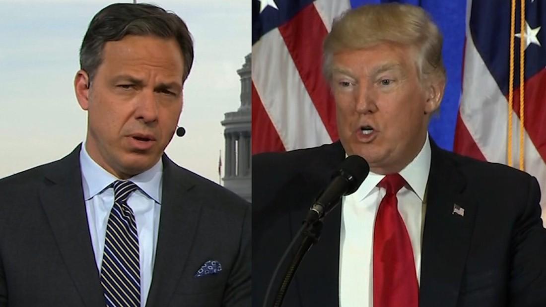 'CNN never did that': Tapper fact-checks Trump