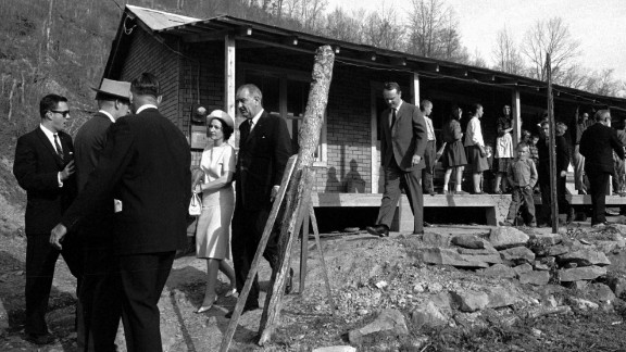 President Lyndon B. Johnson and his wife traveled to Kentucky to promote his War on Poverty. Johnson and King thought any civil rights movement should include poor whites.