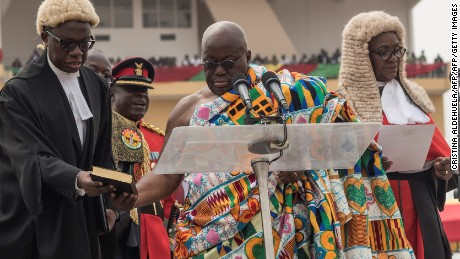 Akufo-Addo plagiarised his inauguration speech from the words of two former US Presidents.
