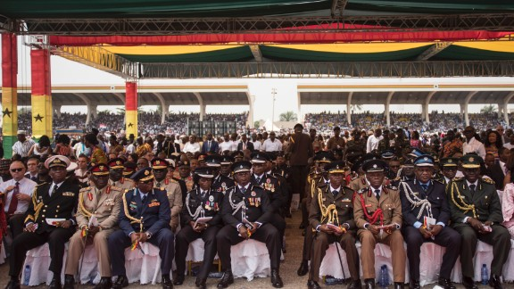 The presidential inauguration was attended by more than 6,000 guests.