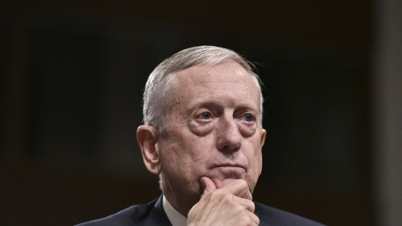Mattis testifies before the Senate Armed Services Committee. He emerged from his confirmation hearing with broad support after he took a strong posture against Russian President Vladimir Putin and answered tough questions on women and gays in combat.