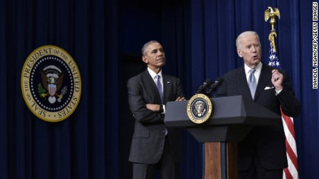 Former Vice President Joe Biden and President Barack Obama in December 2016.