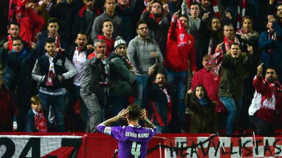 Sergio Ramos had been subject to chants from the stands during the game.