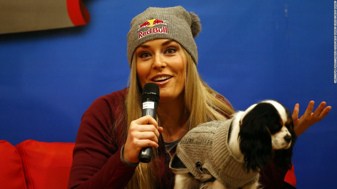 During her career Vonn has had to cope with a number of serious injuries, including a broken arm sustained during a heavy crash last November.