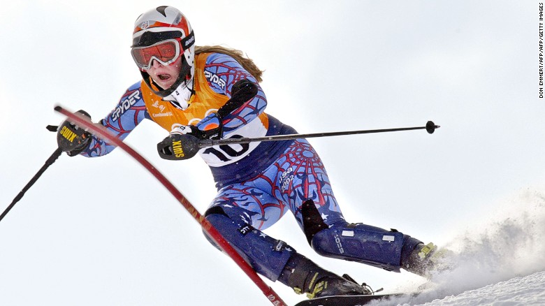 She made her Olympic debut in Salt Lake City in 2002 as a 17-year-old,  finishing 32nd in slalom and sixth in the combined slalom/downhill event.