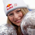 Lindsey Vonn over crystal globe