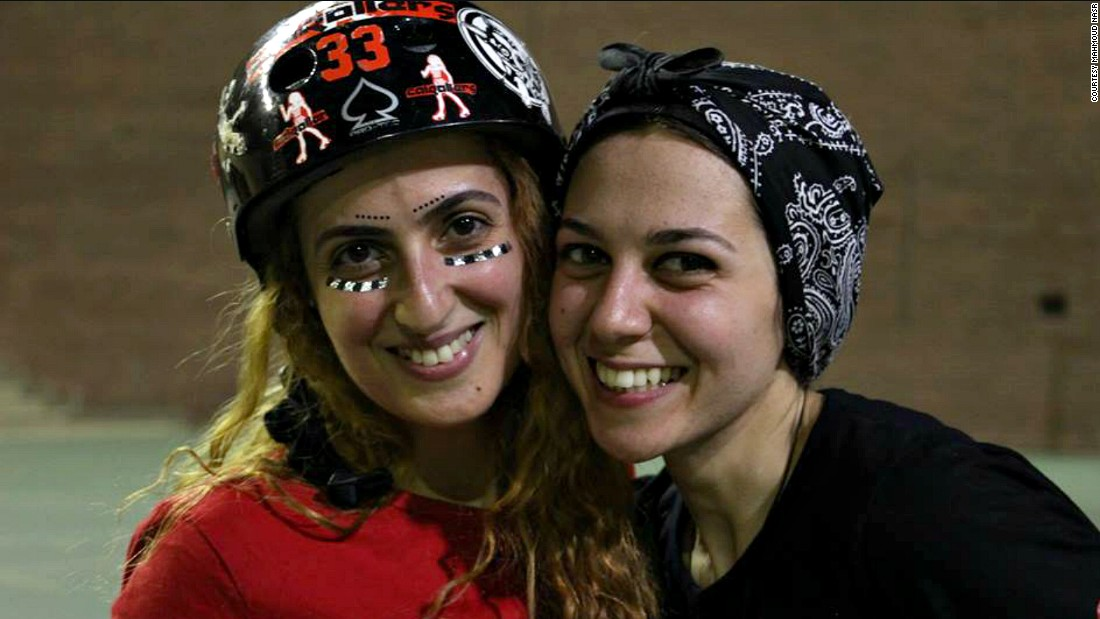 """We definitely felt like we were in some small way a part of history,"" says Nour. ""That created a real feeling of sisterhood among the founding players, and even now as the people on the league have come and gone, that sisterhood remains.""<br /><br />Pictured: Nermine Abi Aad, jewelry designer; and Nouran El Kabbany, a graphic designer."