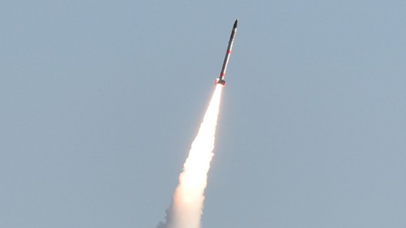 """The rocket was carrying a """"micro-satellite"""" weighing 3 kg."""