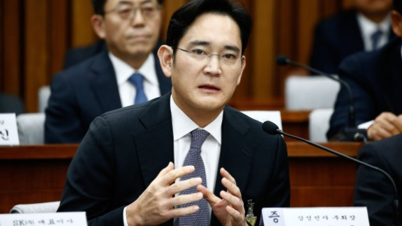 SEOUL, SOUTH KOREA - DECEMBER 06:  Lee Jae-Yong, vice chairman of Samsung answers questions during a parliamentary hearing of the probe in Choi Soon-sil gate at the National Assembly on December 6, 2016 in Seoul, South Korea. South Korea started the parliament hearing with leaders of nine South Korean conglomerates including Samsung, Hyundai, Lotte over the tens of millions of dollars given to foundations controlled by Ms Park
