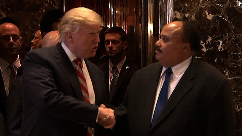 Trump Tweets Mlk Salute Meets With Son Cnnpolitics
