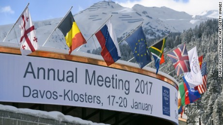 A photo shows the Congress Centre on the eve of the opening day of the World Economic Forum, on January 16, 2017 in Davos. Inequality will be among the issues topping the agenda as the world's political and business elite meet in Davos from January 17 to 20, when 3,000 people will gather for the annual meeting of the World Economic Forum.  / AFP / FABRICE COFFRINI        (Photo credit should read FABRICE COFFRINI/AFP/Getty Images)