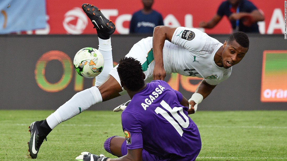 Tasked with replacing former talisman Didier Drogba, Kodjia went close on a number of occasions for Côte d'Ivoire, though Togo goalkeeper Kossi Agassa was not to be denied.