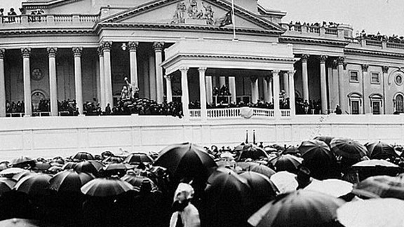 President Franklin D. Roosevelt's second inauguration received nearly an inch of rain.