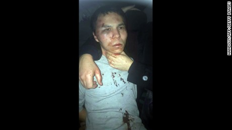 This handout picture released by the Turkish police and taken from Dogan News Agency on January 16, 2017 shows the main suspect in the Reina nightclub rampage captured by Turkish police after a gunman killed 39 people, including many foreigners, in an attack at an upmarket nightclub in Istanbul where revellers were celebrating the New Year. 