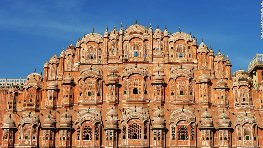 <strong>Hawa Mahal, Jaipur, Rajasthan: </strong>Built in 1799 as an extension of Jaipur's Royal City Palace,<strong> </strong>Hawa Mahal, or Palace of Winds, was originally designed to allow royal women to see street scenes without being seen.