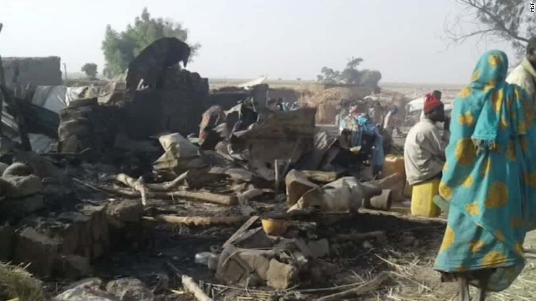 Nigerian army accidentally bombs refugee camp