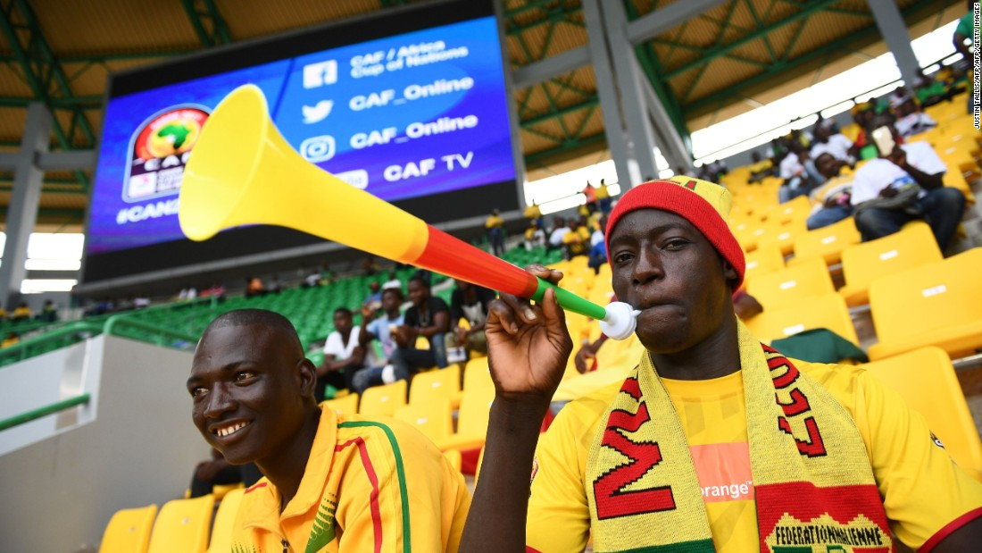 Mali supporters were already filling the stadium as they awaited the start of their match against Egypt.
