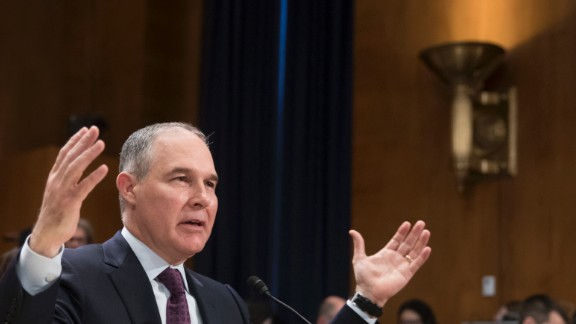 Pruitt testifies at his confirmation hearing in January. Pruitt said he doesn