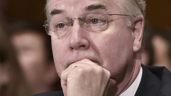 Rep. Tom Price, R-GA, testifies before the Health, Education, Labor, and Pensions Committee on his nomination to be the next health and human services secretary  on Capitol Hill in Washington, DC on January 18, 2017. / AFP / Mandel Ngan        (Photo credit should read MANDEL NGAN/AFP/Getty Images)