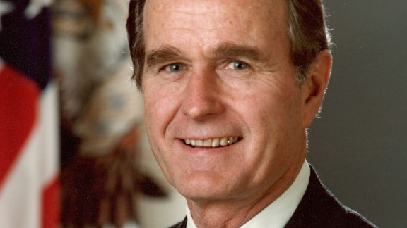 circa 1989:  Forty-First president of the United States George Bush (1989 - 1993).  (Photo by Hulton Archive/Getty Images)